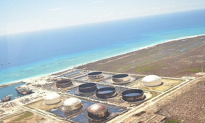 Equinor's South Riding Point facility in East Grand Bahama.