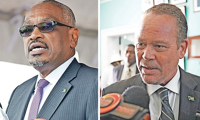 Prime Minister Dr Hubert Minnis and Attorney General Carl Bethel.
