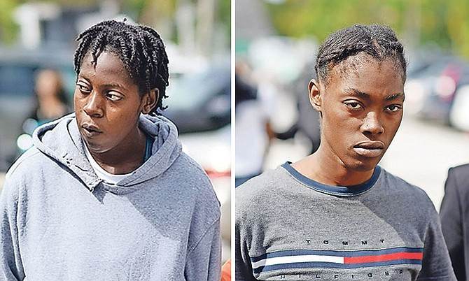 Zaria Burrows and Dervinique Edwards at an earlier court appearance.