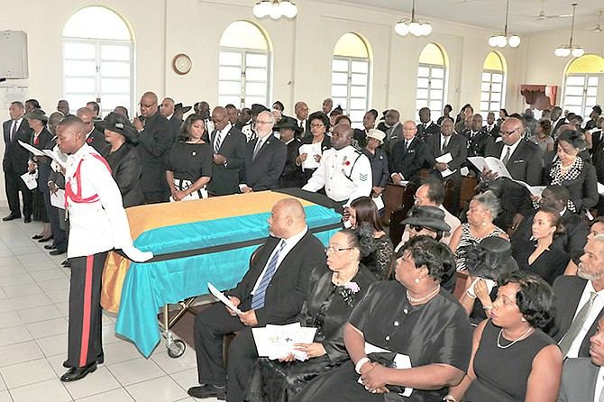 The scene inside Rhodes Memorial Methodist Church at the funeral service for Calsey Johnson.