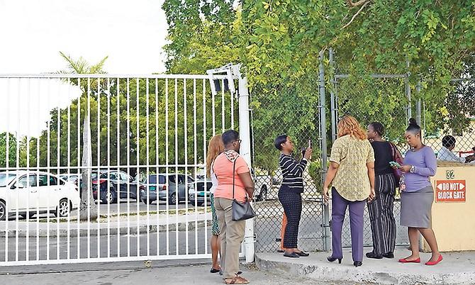 Carlton E. Francis teachers still not being allowed on the school grounds. Photo: Terrel W. Carey Sr/Tribune Staff