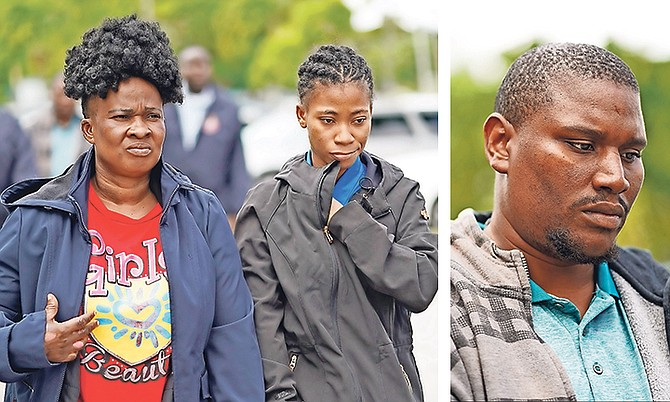 "FROM LEFT: Carline Moss, Jane Doe aka ""Jelica Joseph"" aka ""Jelica Shemika Moss"" and Garfield Jamal Moss. Photos: Terrel W Carey Sr/Tribune staff"