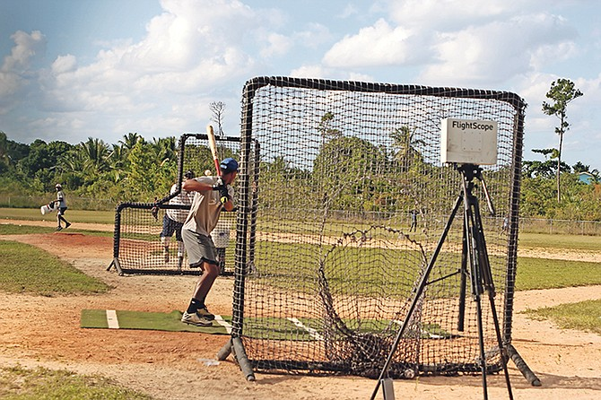 Young baseball prospects take part in the I-Elite programme.