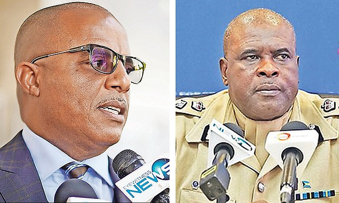 Minister of National Security Marvin Dames and Commissioner of Police Anthony Ferguson.