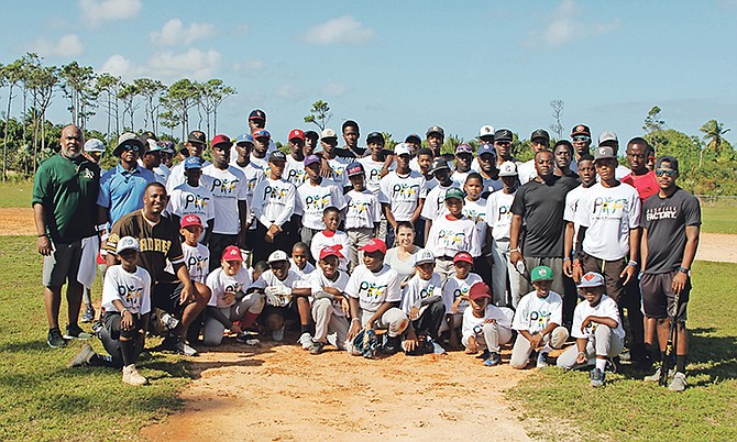 Dozens of players took part in the free clinic provided by International Elite Sports Academy and Pro Youth Foundation at the Pinewood Baseball Park.