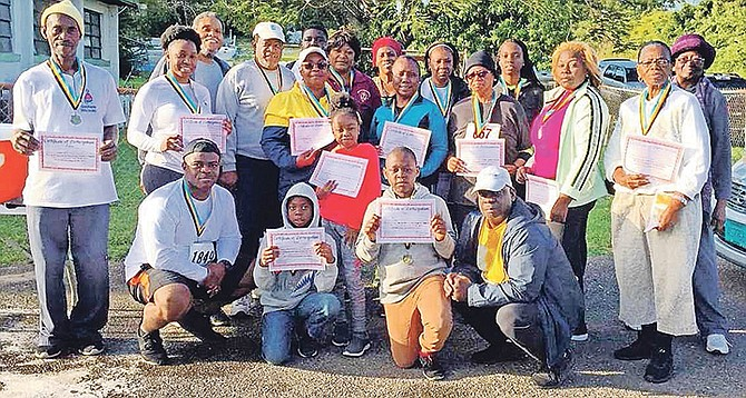 Members of Macedonia Baptist Church who participated in the walk race.