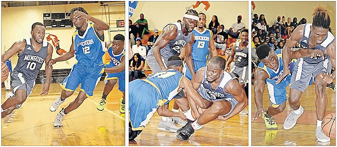 THE University of the Bahamas Mingoes beat the JD's Seafood Shockers 91-71 in the decisive game of their New Providence Basketball Association men's best-of-three series, winning the series 2-1.