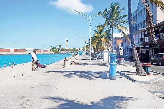 It was all very quiet in Downtown Nassau yesterday. Photo: Terrel W Carey Sr/Tribune Staff