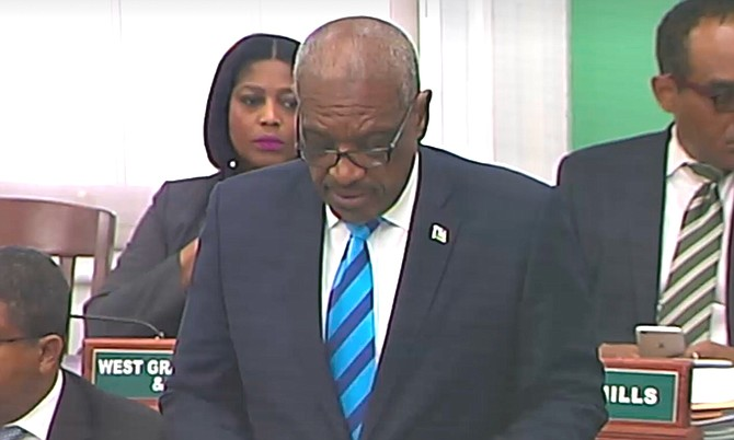 Prime Minister Dr Hubert Minnis speaks in the House of Assembly.