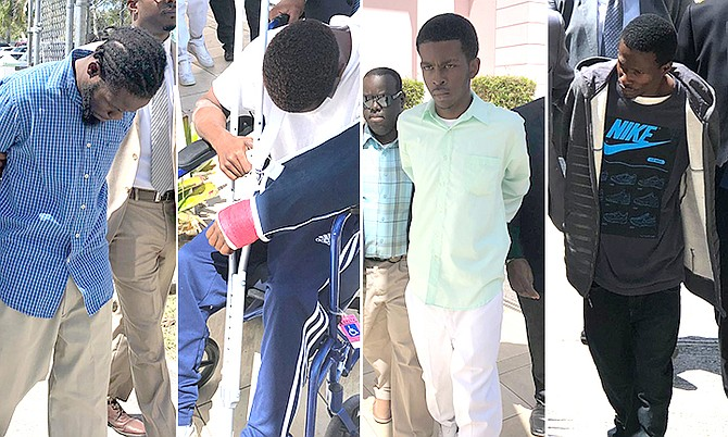 THE ACCUSED – From the left: Yvenette Philips, Joey Jolissaint, Philip Murphy and Luckson Charite.
