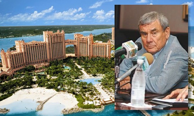 Sol Kerzner was the developer of the Atlantis resort on Paradise Island.