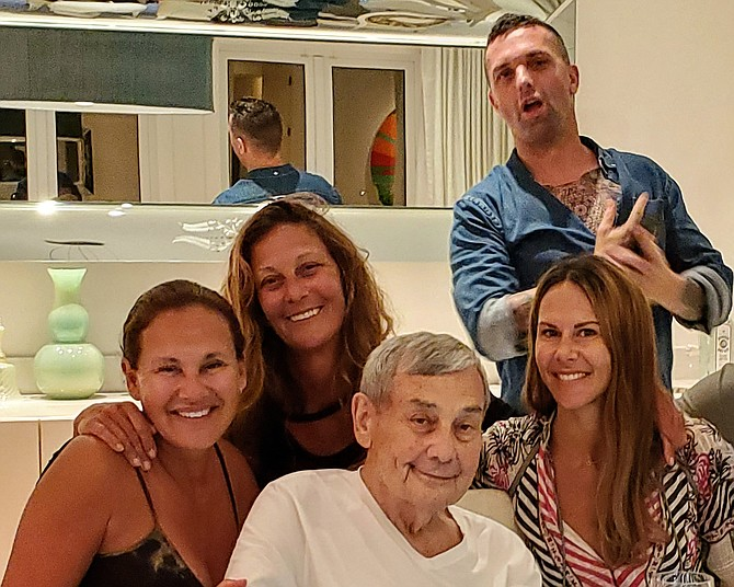 Sol Kerzner with, from the left, daughters Andrea, Beverly and Chantal and son Brandon.
