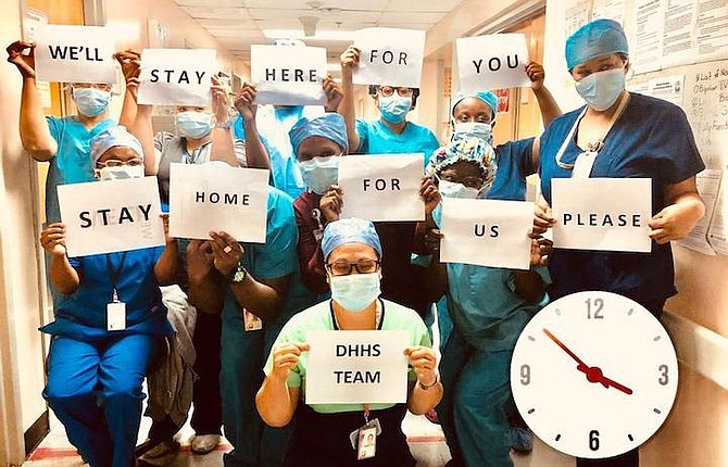 The team at Doctors Hospital get their message across.