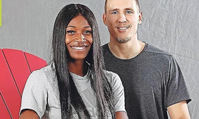 Shaunae Miller-Uibo and her husband, Maicel Uibo.
