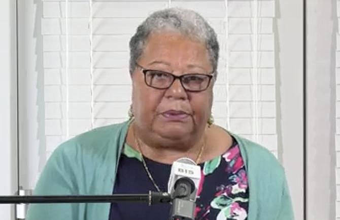 Dr Merceline Dahl-Regis speaks on Friday.