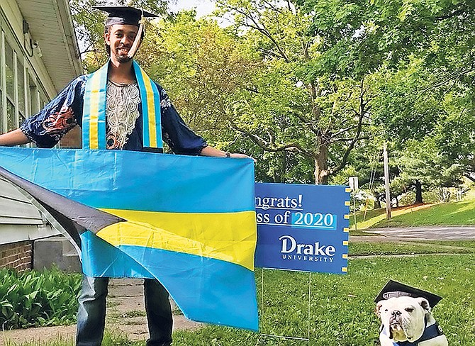 THE VERSATILE ONE: Michael Cooper Jr has graduated from Drake University. The virtual ceremony took place on Saturday in Des Moines, Iowa, as he received his bachelors degree.