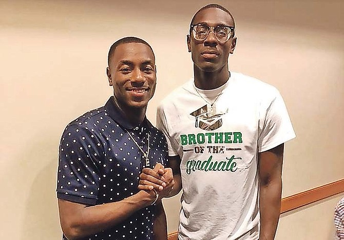 LAQUAN NAIRN, right, with his big brother Lourawls 'Tum Tum' Nairn.