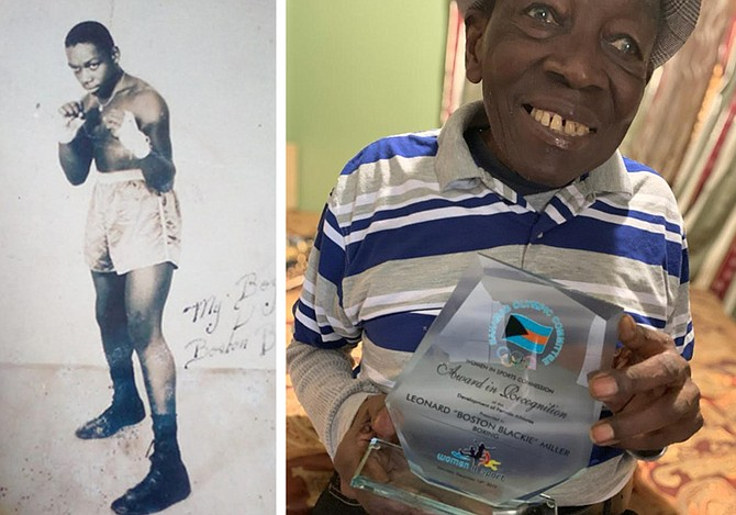 LEFT: Boston Blackie dazzled crowds with his boxing style for three decades.