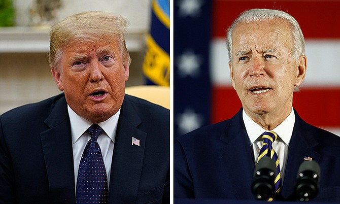US President Donald Trump and Joe Biden.