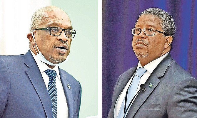 Prime Minister Dr Hubert Minnis and Deputy Prime Minister Peter Turnquest.