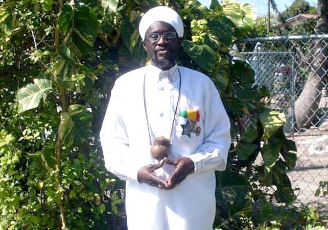 Rastafari Priest Philip Blyden.