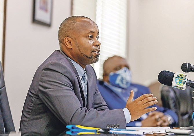 Minister of State for Grand Bahama Senator Kwasi Thompson.