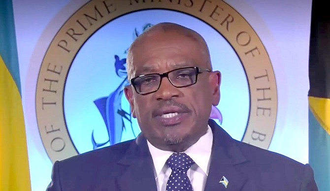 Prime Minister Dr Hubert Minnis speaking on Tuesday.