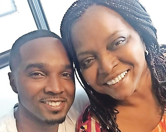 Avard Moncur and his mother, Ramona Moncur.