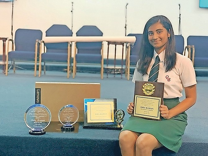 Isha Rama, the nation's top achiever in BGCSE results last year.