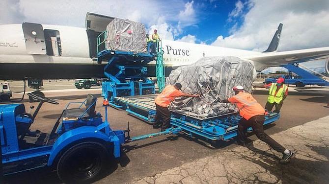 SAMARITANS Purse equipment arriving in Nassau.