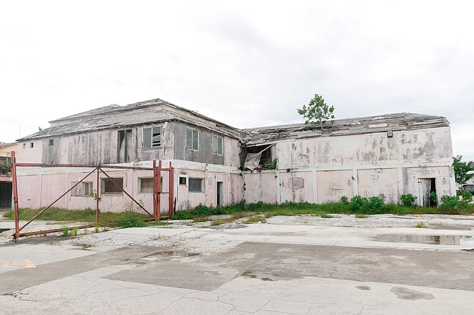A dilapidated building in Downtown Nassau