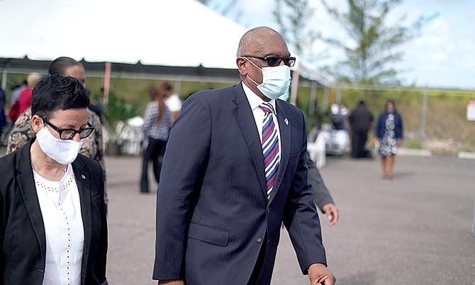 PRIME Minister Dr Hubert Minnis pictured yesterday. Photo: Terrel W Carey Sr/Tribune Staff