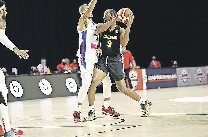 D'SHON TAYLOR (9) scored a game high 25 points. Photos courtesy of FIBA