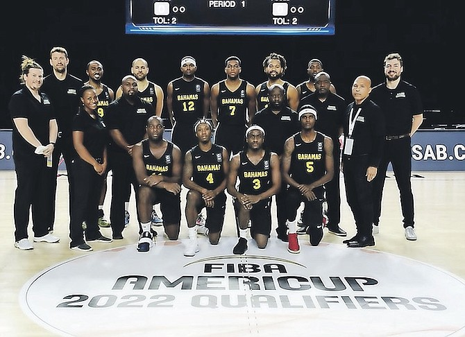 MEN's national basketball team members in the bubble at the FIBA AmeriCup 2022 Qualifiers in Indianapolis, Indiana.