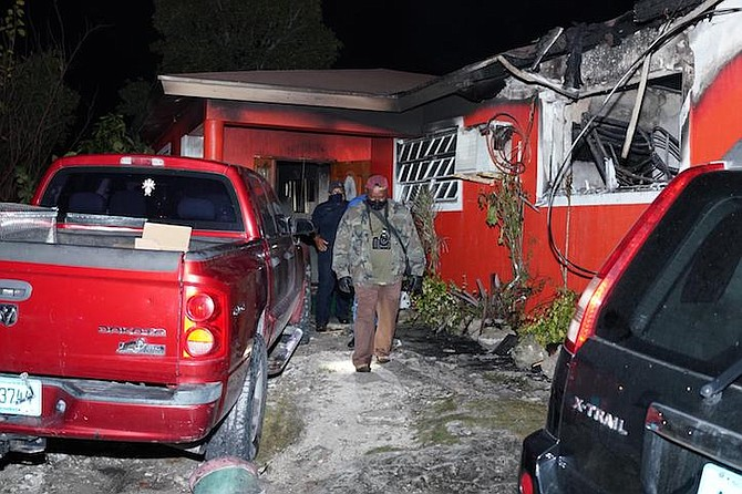 The scene of the fire on Williams Drive. Photo: Terrel W Carey/Tribune staff