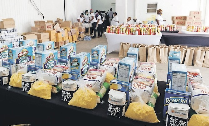 DONATIONS given previously by Rupert Roberts to the Feeding Network. Officials say the National Food Distribution Task Force is due to end in March, but 100,000 will still need food assistance then.