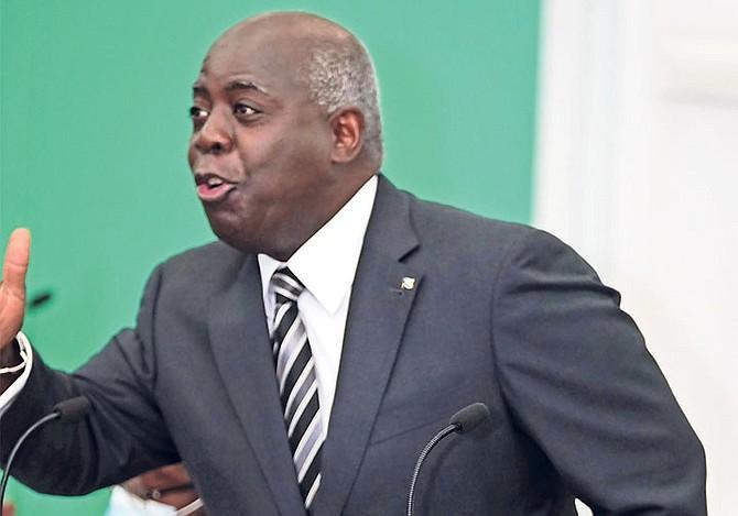 OPPOSITION leader Philip 'Brave' Davis in Parliament yesterday. Photo: Terrel W Carey Sr/Tribune Staff