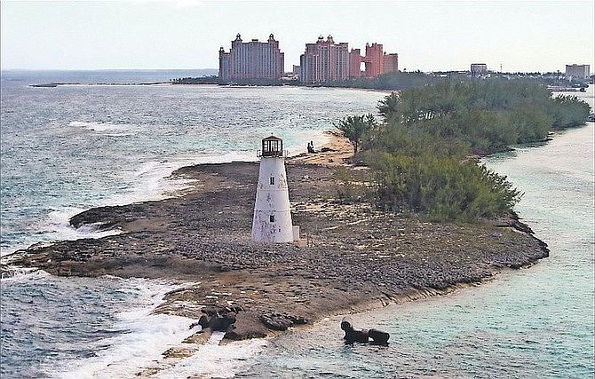 Paradise Island lighthouse.