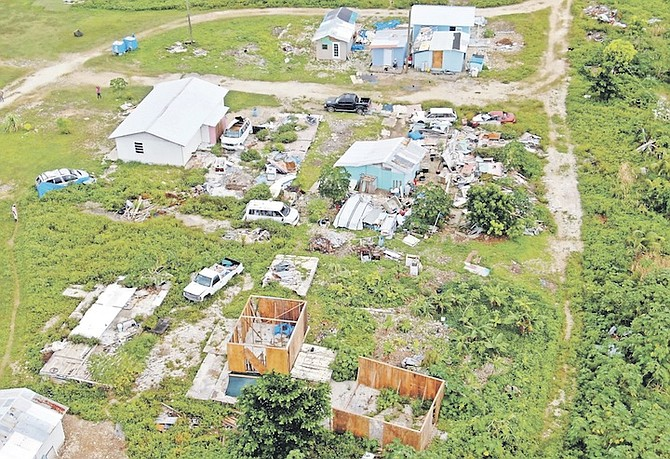 AN AERIAL view of some of the new construction in Abaco. Photo: Stephanie Hield