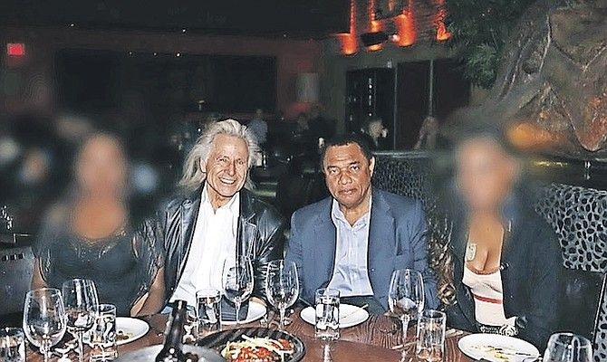 AN IMAGE showing former Prime Minister Perry Christie with Peter Nygard in Las Vegas.