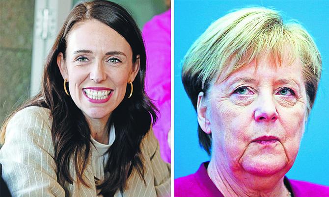 THE LEADERS of New Zealand and Germany, Jacinda Ardern and Angela Merkel.
