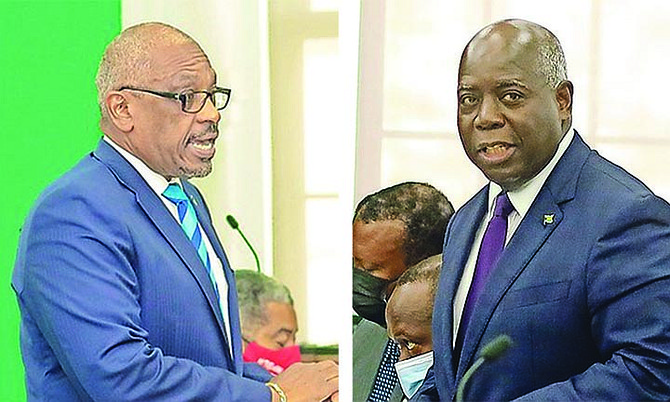 Prime Minister Dr Hubert Minnis and PLP leader Philip 'Brave' Davis.