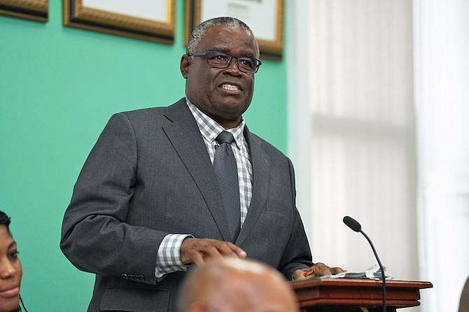 National Insurance Minister Brensil Rolle.