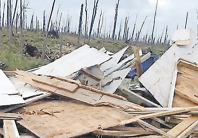 SOME of the debris after buildings in The Farm shanty town were demolished, in this image taken from video.