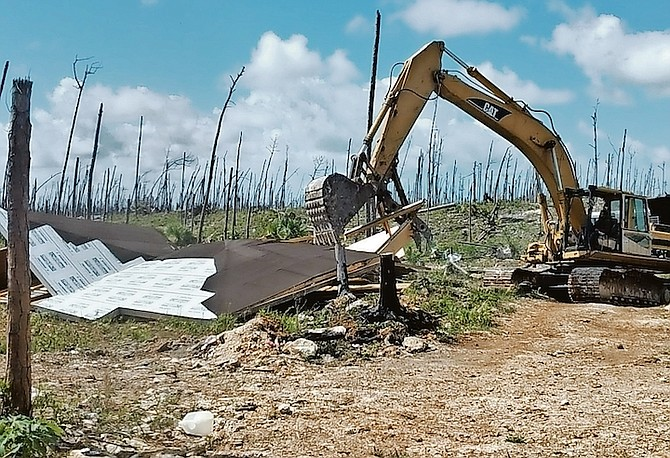 DEMOLITION work at The Farm in Abaco last weekend.
