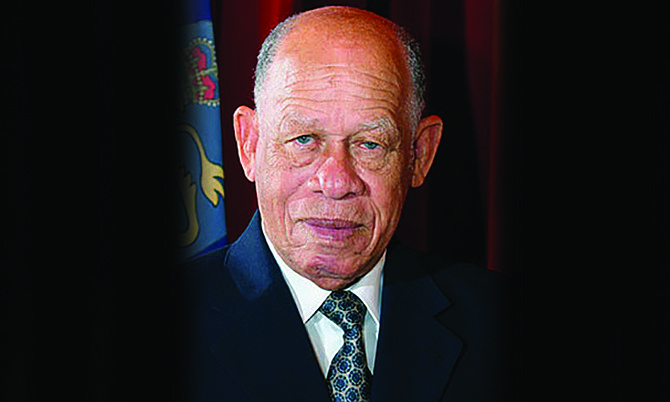 Former Governor General and Deputy Prime Minister Arthur Dion Hanna.