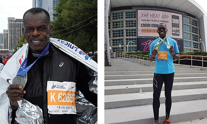 CHARLES Johnson has been competing in marathons from the age of 55.