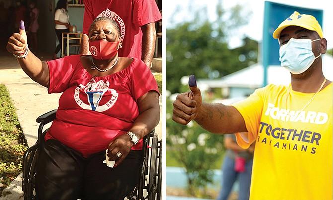 Voters at St Andrew's polling division in Yamacraw. Photos: Donavan McIntosh/Tribune staff