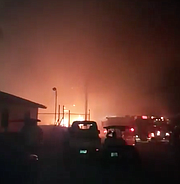 Footage from the scene of the fire in Bimini