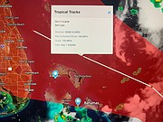 """BPL Street Smart Tropical Update & Cone of Impact courtesy of IBM / Bahamas """"First Alert"""" Avaition, Climate & Severe Weather Network"""